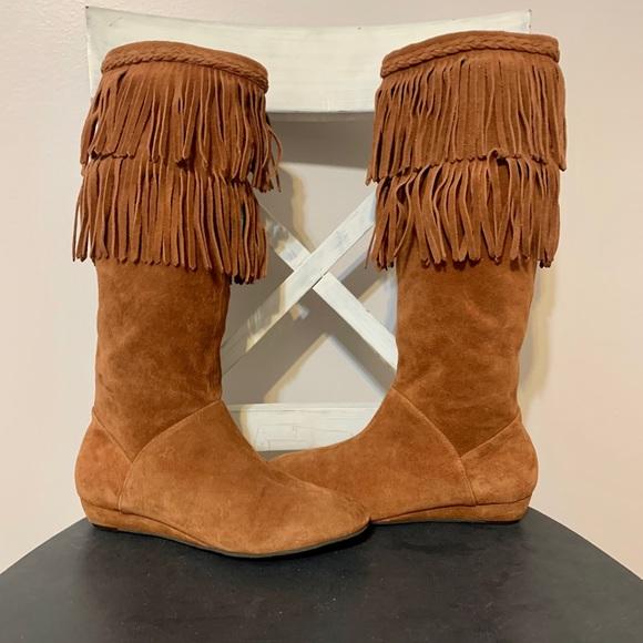 GIANNI BINI leather Moccasin bohemian boots shoes